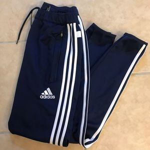 adidas navy climacool striped joggers